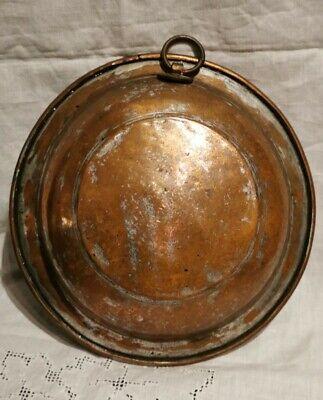 Antique Copper Plate Primitive Antique Plate Oriental Home decor Vintage Copper Plate Hand Forged Old Rare Bulgarian Copper Plate