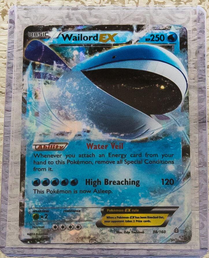 Pokemon Wailord EX 38/160 - XY Primal Clash - Ultra Rare ... Wailord Pokemon Card