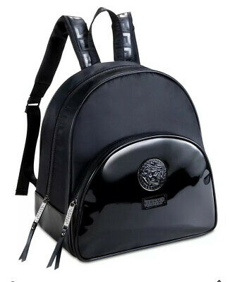 NEW Versace Black Luxury Backpack  Medusa Head For Ladies