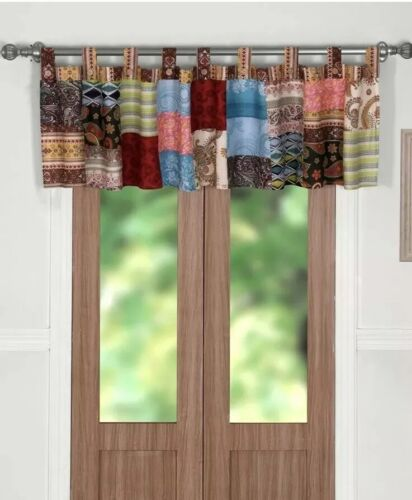 Greenland Home Fashions Bohemian Dream Patchwork Valance 84