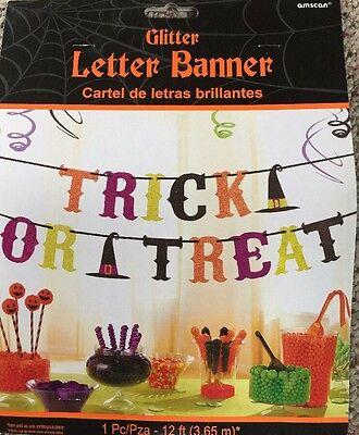 Halloween Glitzer Buchstabe Banner-Trick oder Behandeln, Party Dekoration, Nip ()
