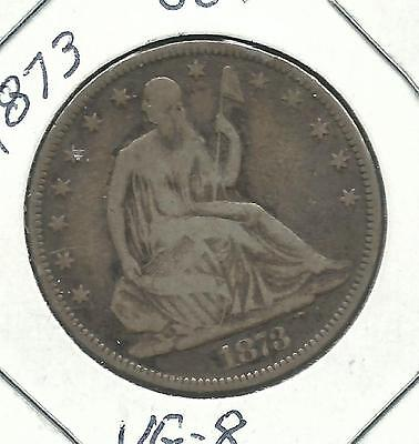 1839-1891 SEATED LIBERTY HALF DOLLARS PROOFS  1873 OPEN 3