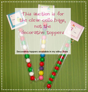 100-CLEAR-CELLOPHANE-BAGS-1x8-Candy-Treat-Sweet-Sleeve-Tube-Party-Goodie
