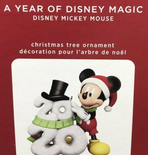 New 2020 Mickey Mouse A Year of Disney Magic, Hallmark Keepsake Ornament
