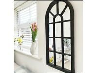 £20 Black French Arch Mirror Soho Arched Window Style Mirror Arch Oxford Decor Mirror
