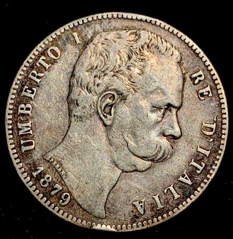 ITALY 5 LIRE 1879, Nice Details