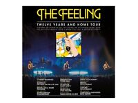 2 Tickets to see The Feeling Birmingham Town Hall Monday 22nd October GREAT SEATS