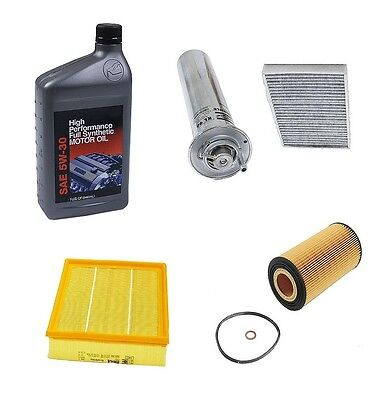 Bmw E39 540i 2000-2003 Air Cabin Fuel Oil Filter Engine Oil Kit Ships Fast on sale