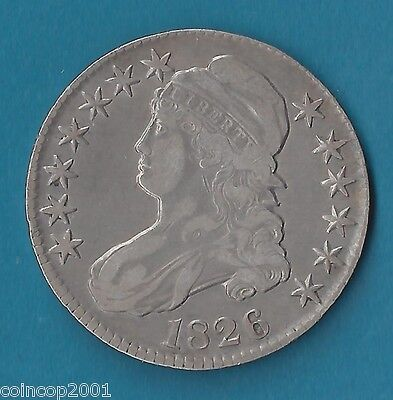 CAPPED BUST HALF DOLLAR   1826   KM 37