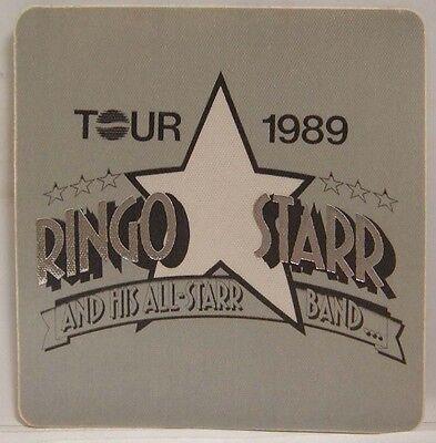 THE BEATLES / RINGO STARR - ORIGINAL CONCERT TOUR CLOTH BACKSTAGE PASS