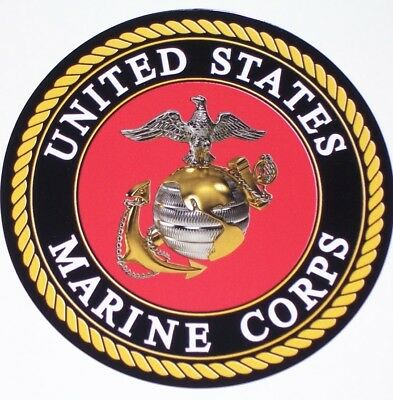 UNITED STATES MARINE CORPS truck RV motorhome Wall Window Graphic Decal decals