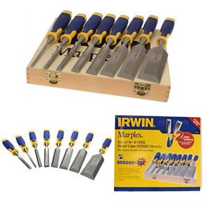 IRWIN Marples 8 Piece S500 Capped Wood Chisel Set 1/4