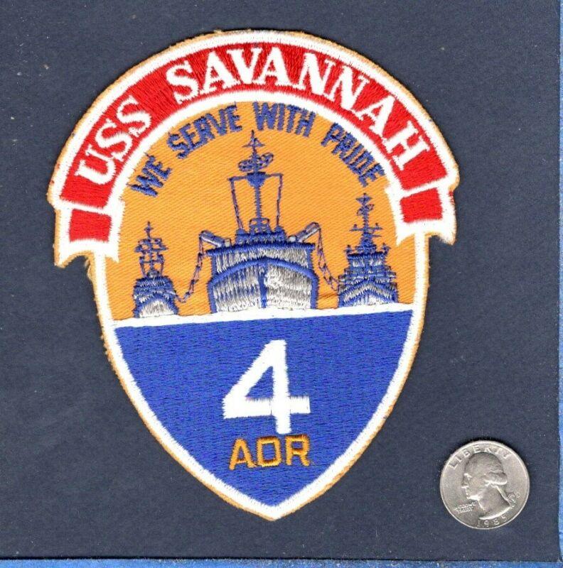 Original AOR 4 USS SAVANNAH US NAVY OILER SHIP Squadron Jacket Patch