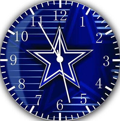 Dallas Cowboys Frameless ohne Grenzen Wanduhr Schön für Geschenke oder Dekor Z16 ()