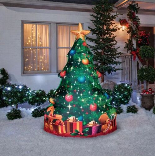 7 FT PHOTOREALISTIC CHRISTMAS TREE Christmas Lighted Airblown Inflatable