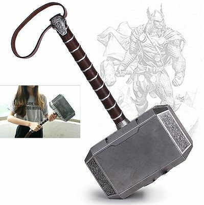 US Stock 1:1 Avengers Thor The Dark World Hammer Mjolnir Props Cosplay Xmas Gift