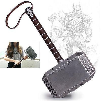 US Stock 1:1 Avengers Thor The Dark World Hammer Mjolnir Props Cosplay Xmas Gift (Avengers Hammer)