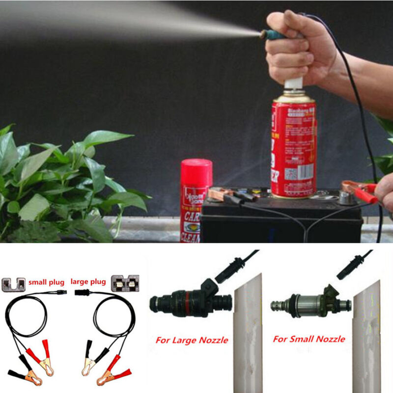Car 4in1 DIY Vehicles Fuel Injector Flush Cleaner Adapter Cleaning Nozzle Tool