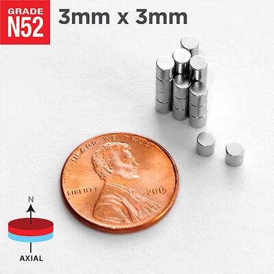 25 50 100 500pc 3mm X 3mm 18x18 N52 Rare Earth Neodymium Crafts Magnet Discs