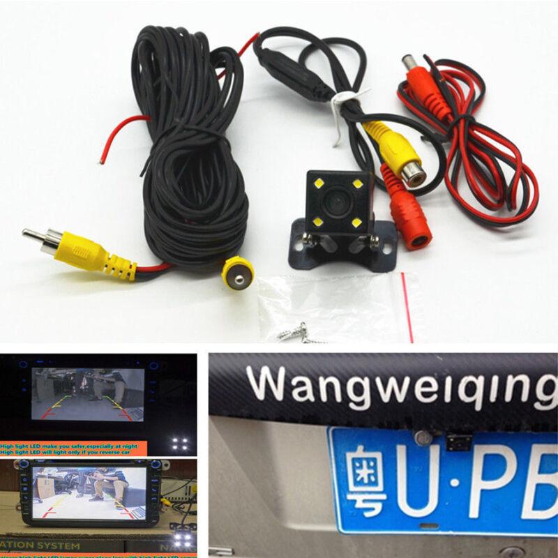 HD CCD Car Rear View 4 LED Backup Reverse Parking Night Vision Waterproof Camera