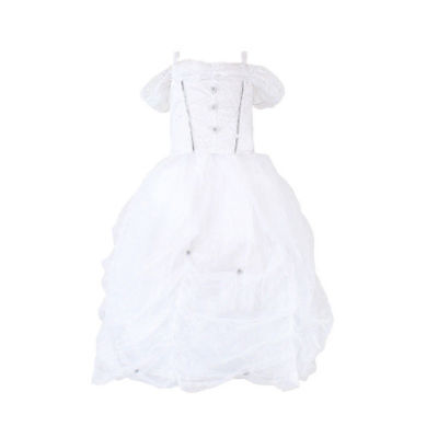 Flower Girl Princess Dress Kids Party Wedding Pageant Formal Tutu Dress 4-6Years