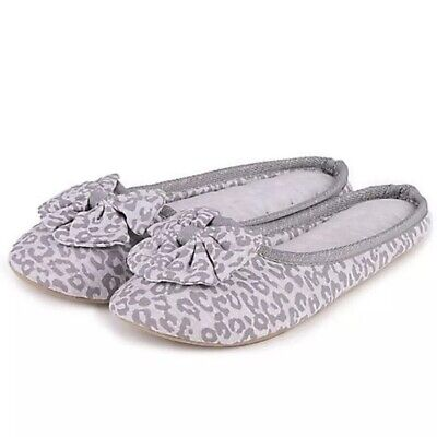 Totes Isotoner Pillowstep Women's Mule Slipper Grey Size Small 3-4