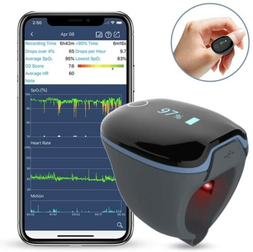 FDA Medical-Grade Wearable Ring Oxygen Monitor-Sleep with  Peace of Mind