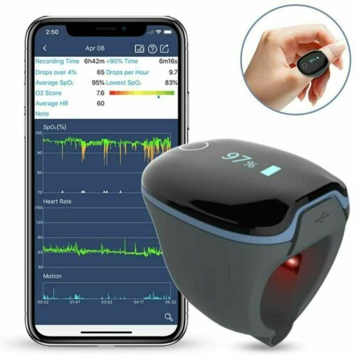 Wellue Bluetooth Health O2 Ring Tracker Oxygen Levels & Heart Rate Monitor
