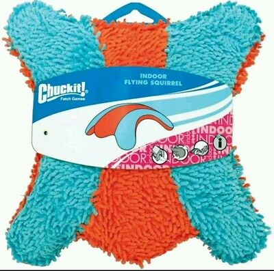 Chuck-It Dog Fetch Indoor Flying  Squirrel Soft Plush Toy
