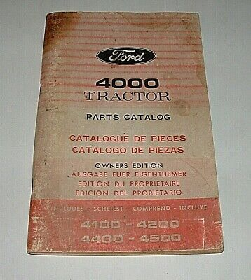 Vintage Ford Tractor 4000 Series Original Parts Catalogowners Editionvery Nice