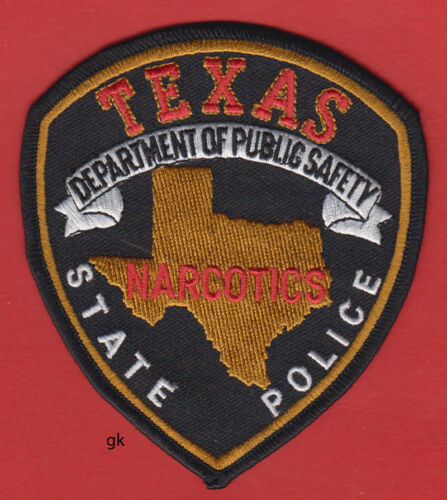 TEXAS STATE POLICE DEPARTMENT PUBLIC SAFETY DPS NARCOTICS  SHOULDER PATCH  Color