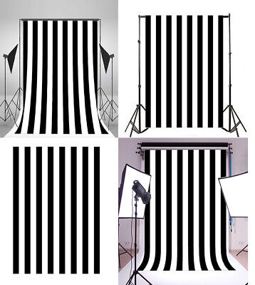 Black White Stripe Background Party Banner 5x7/8x10ft Photography Props Backdrop](Black And White Striped Backdrop)