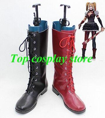 Batman Harley Quinn Boots Arkham City cos cosplay shoes boot shoe boot - Harley Quinn Boots Arkham City