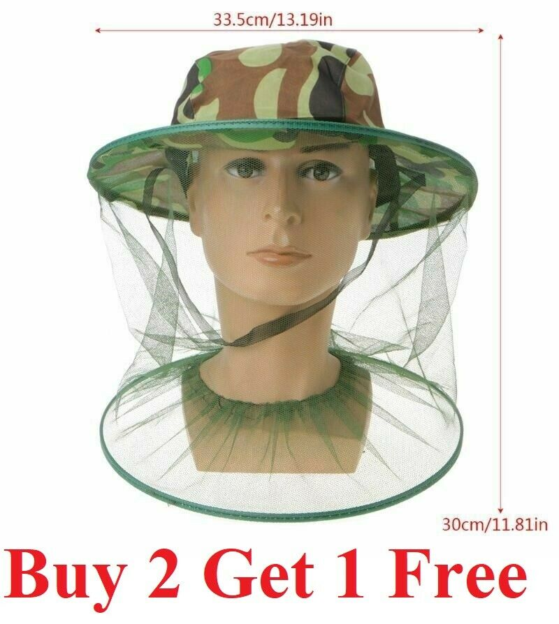 Anti-Mosquito Bug Bee Insect Head Net Hat Cap Sun Protection Fishing Hiking Camping & Hiking
