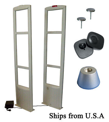 Checkpoint Compatible 8.2mhz 2-tower Eas Tag Security System Up To 5.5ft Fr Usa