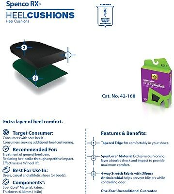 Spenco Rx Heel Cushions 42 168 All Sizes Small Medium Large Insoles Inserts