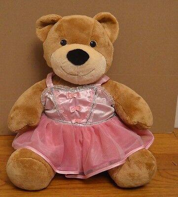 Tan Build A Bear Stuffed Plush Ballerina Pink Tutu Dress Allergy Asthma Friendly