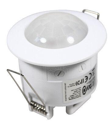 Lifcobuy® Decken Einbau Bewegungsmelder 360° 6 m 1-1200 W weiß für LED geeignet