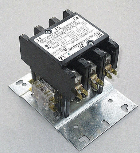 OEM Carrier Compressor Contactor HN53HF115, 60 Amp, 115V Coil, 1NC & 1NO Aux.