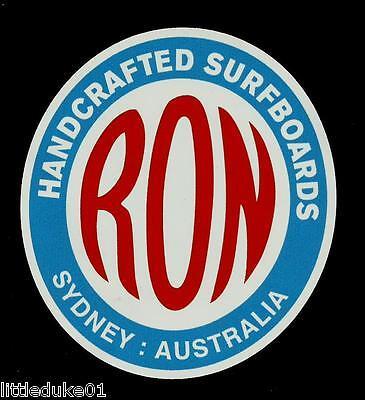 RON SURFBOARDS Sticker Decal Surfboard 1960s RETRO VINTAGE LONGBOARD SURFER