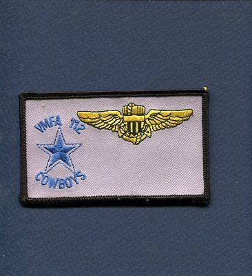 VMFA-112 COWBOYS F-4 PHANTOM F-18 HORNET USMC Marine Corps Squadron Name Patch