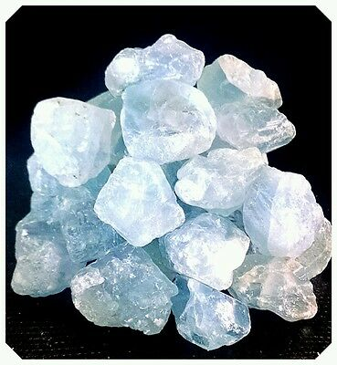 Celestite Rough Mineral Points Piece Natural Crystal Healing 15 22G  2 4Pcs