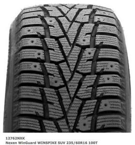 WINTER TIRES 235/60/R16 4 LEFT NEW NEXEN WINGUARDS other sizes available