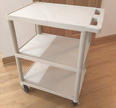 Luxor Flat 3 Shelf Heavy Duty Medical Restaurant Utility Cart Pick-up Deal Only
