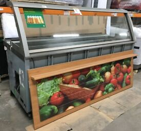 Refrigerated Chiller/Display Unit by DUKE - Sandwich Prep with Glass Day Cover