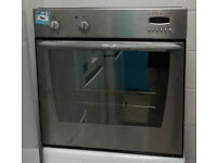W197 stainless steel indesit single electric oven comes with warranty can be delivered or collected