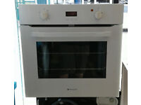 a783 white hotpoint single electric oven come with warranty can be delivered or collected