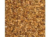 Brown decorative garden stones