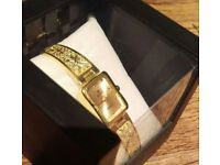 HOT NEW Ladies/Girls Love Gift Watch Bracelet GOLD Watch London