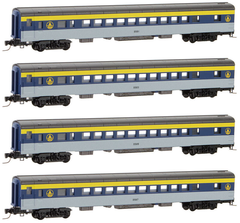 Micro-Trains MTL Z-Scale Passenger Coach Baltimore & Ohio/B&O  - Runner 4-Pack